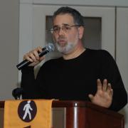 Main speaker Barnaby Evans, Waterfire Providence creator and artist