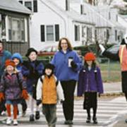 Arlington families participate in New England's first Safe Routes to Schools program